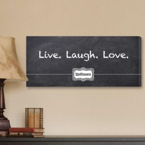 Personalized Canvas Sign – 3 L's Blackboard