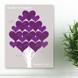 Personalized Guestbook Canvas - Branches of Love