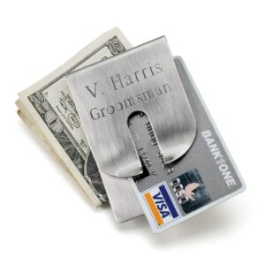 Personalized Wallet - Money Clip - Stainless Steel